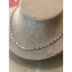 "Collier ""ligne"" or et diamants"
